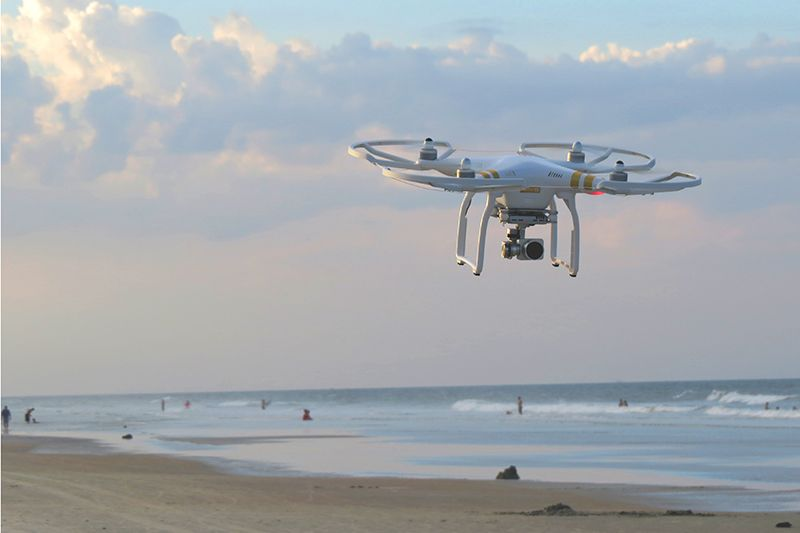 Drone at the beach